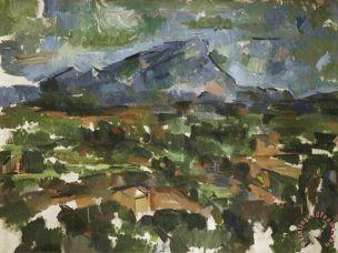 Mont Sainte Victoire Seen From Les Lauves 1902 06 Painting by Paul Cezanne; Mont Sainte Victoire Seen From Les Lauves 1902 06 Art Print for sale