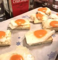 bacalao and salmorejo casa morales