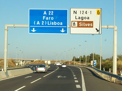 Portugal-Motorway-Sign