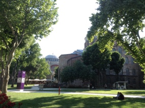 Hagia Eirene with the Hagia Sophia behind